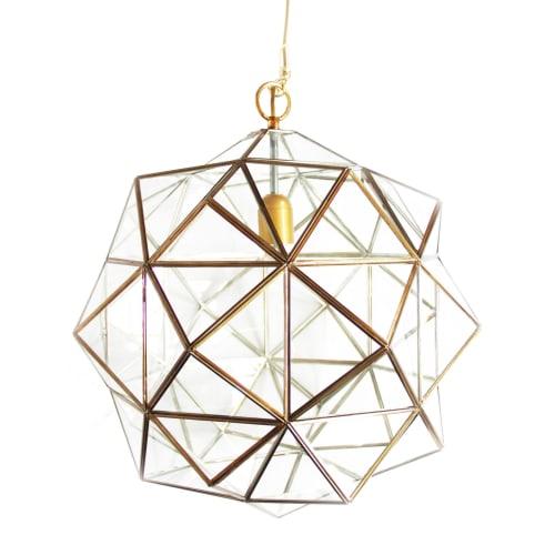Pendants by l'aviva home seen at Private Residence - Granada Lighting Collection, Rombus Lantern