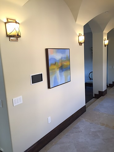 Paintings by TS ModernArt Studio seen at Private Residence, Rancho Palos Verdes - Beach Series