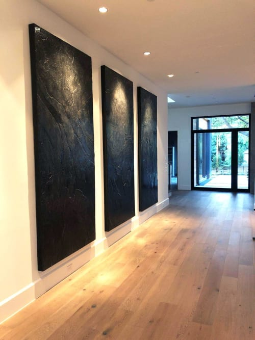 Paintings by Nickhartist seen at Private Residence, Dallas - Obsidian Desert
