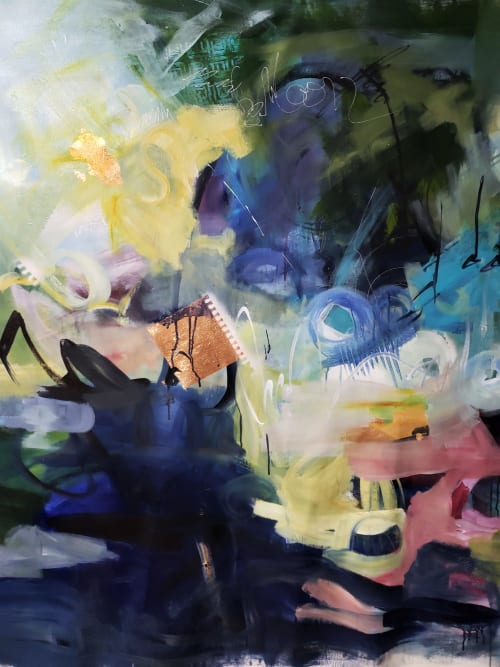 Paintings by Marie Manon Art seen at Private Residence, Calgary - Between Dreams