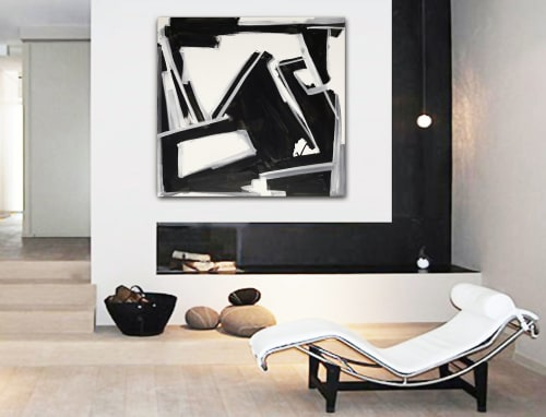 Paintings by Linnea Heide contemporary fine art seen at Private Residence, Broken Arrow - 'THURSDAY' original abstract painting by Linnea Heide