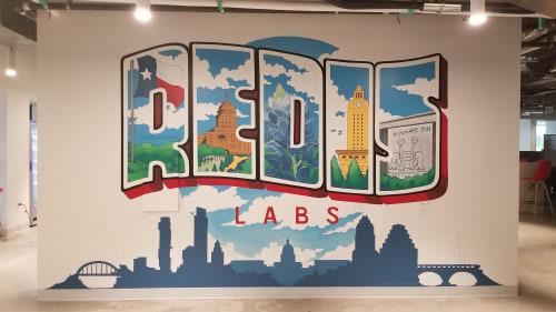 Murals by Aerica Raven Van Dorn seen at 316 W 12th St, Austin - Austin Themed Mural
