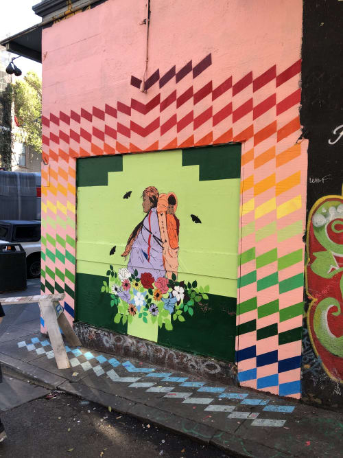 Murals by Keith Secola jr. seen at Clarion Alley Street Art, San Francisco - Carry forward