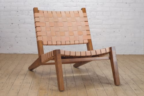 Grasshopper Lounge Chair Leather   Chairs by From the Source