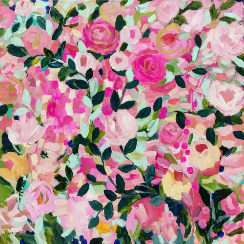 Paintings by Carrie Schmitt seen at Private Residence, Duvall - Floral Painting