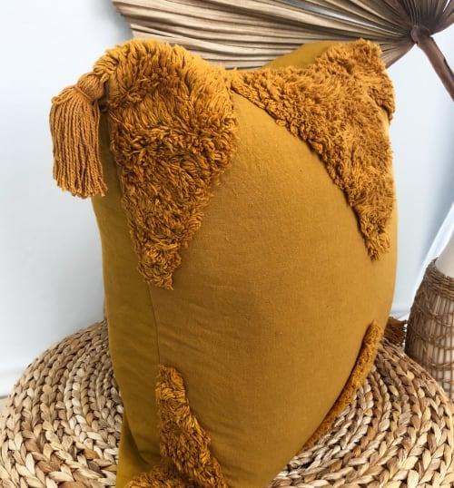 Classic Agalia - Dirty Mustard   Pillows by Coastal Boho Studio