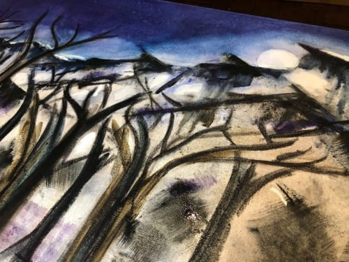 Paintings by Constance Pappalardo seen at Private Residence, Cary - A night in the forest