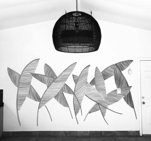 Murals by Marta Elise Johansen seen at Broc Cellars, Berkeley - Pool House Palms