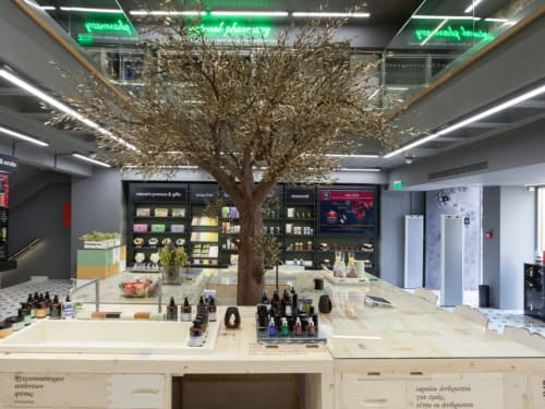 Sculptures by Valaes seen at THE APIVITA EXPERIENCE STORE, Athina - Olive tree sculpture