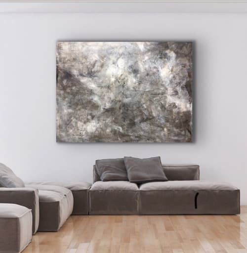 Paintings by Anett Henriksen seen at Private Residence, Drammen - Snowmountain