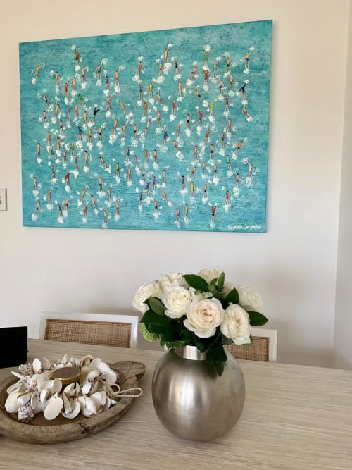 Paintings by Elizabeth Langreiter Art seen at Private Residence, Sydney - We are all in this Together