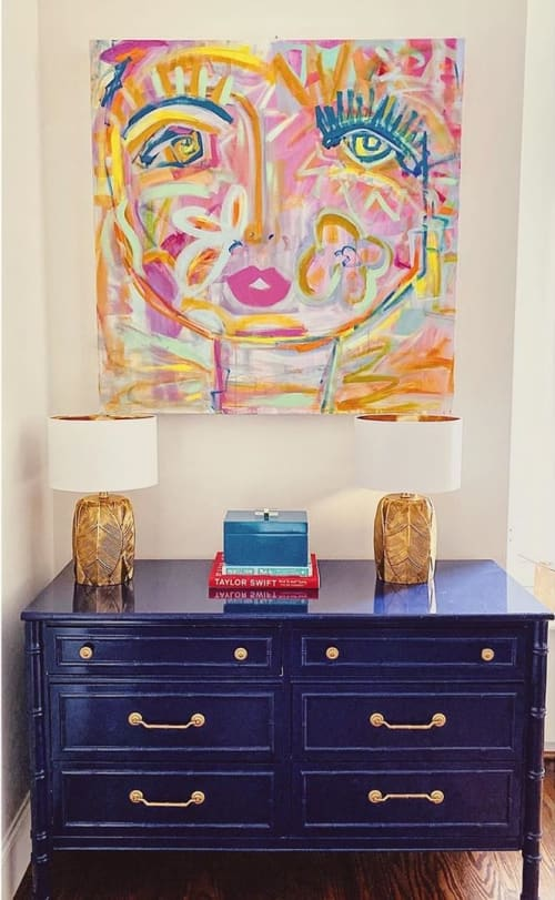 Paintings by Windy O'Connor Art and Home seen at Private Residence, Raleigh - Chica Painting