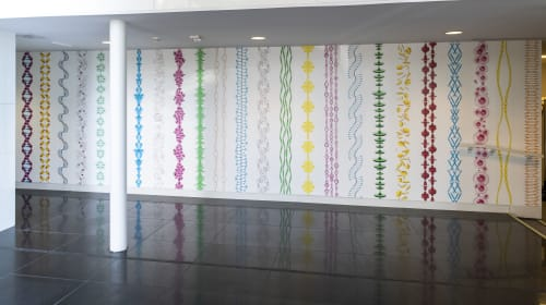 Wallpaper by Cassandra C. Jones seen at Wichita Art Museum, Wichita, KS, Wichita - Blind Glass