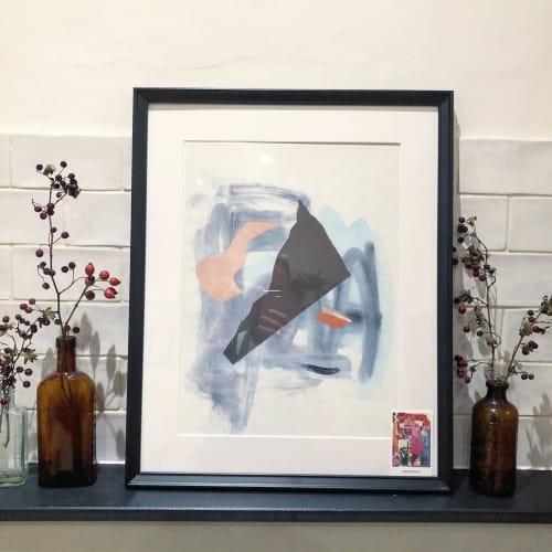 Paintings by Meera Palia seen at Salt the Radish, London - 'Brown Triangle', mixed media artwork