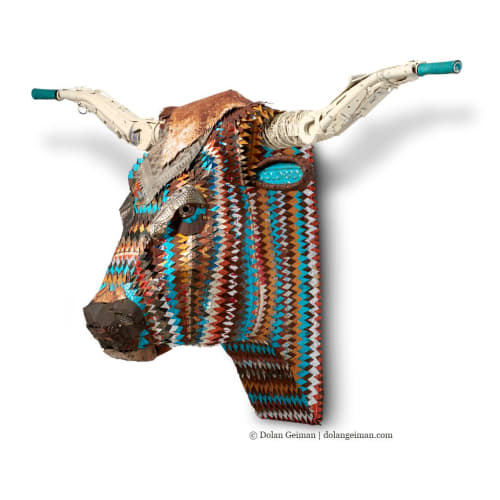 Sculptures by Dolan Geiman seen at Private Residence - Longhorn Sculpture