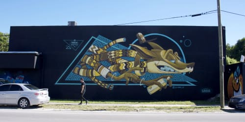 Murals by KRAM seen at Miami, Miami - CCD GALLERY