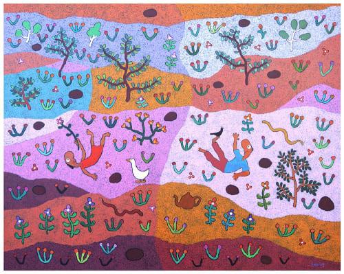 Paintings by Michael Leunig seen at Private Residence, Merricks North - Desert Song