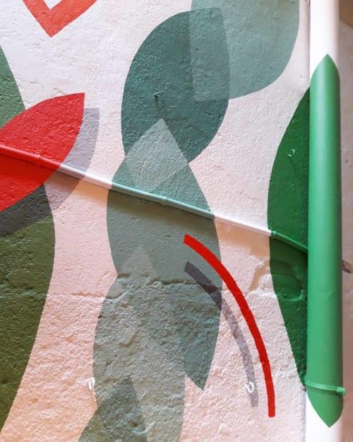 Paintings by Giulia Salamone Noeyes seen at Raffaelli Ristorante Italiano, Barcelona - Painting (plant)