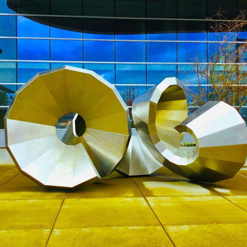 Public Sculptures by Cris Bruch seen at Wayne L. Morse United States Courthouse, Eugene - Shortest Distance