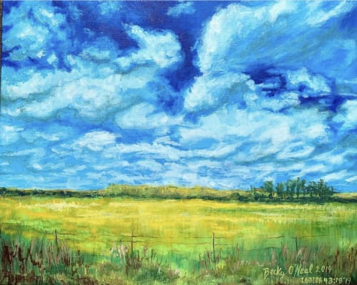 Paintings by Becky O'Neal seen at Private Residence, Baton Rouge - New Beginnings