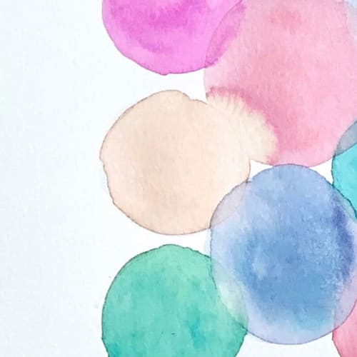 Paintings by Christy Frank seen at Private Residence, Nashville - Gumball Drop