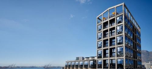 Architecture by Heatherwick Studio seen at The Silo Hotel, Cape Town - Architecture