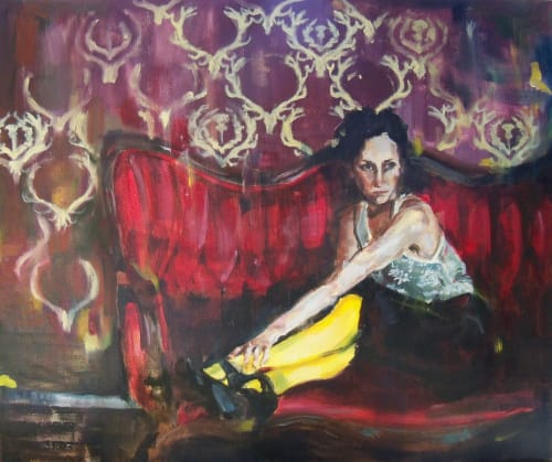 Paintings by Sara Lightning seen at Juxt, Seattle - Euphonie Painting