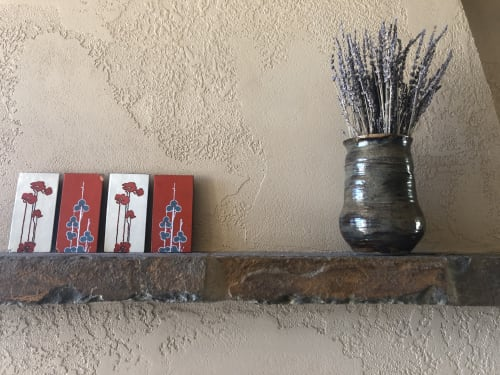 Sculptures by Solana Beach Pottery seen at Private Residence, Truckee - Volcanic Ash Vase