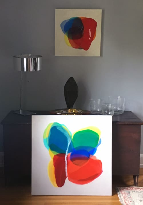 Paintings by Farida Hughes seen at Private Residence, Saint Paul - Blend | Commissioned painting