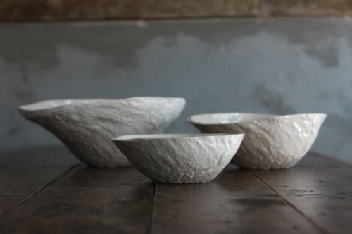 Ceramic Plates by MALGA Ceramic Design by Mariana Filipe seen at Taberna D'Vila, Grândola - Cocharro Bowl