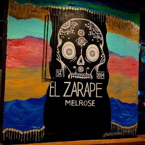 Interior Design by AstahCustoms seen at El zarape Melrose, Los Angeles - El Zarape Melrose Skull