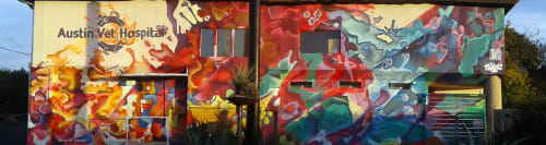 Murals by J MUZACZ seen at Austin Vet Hospital, Austin - Splash