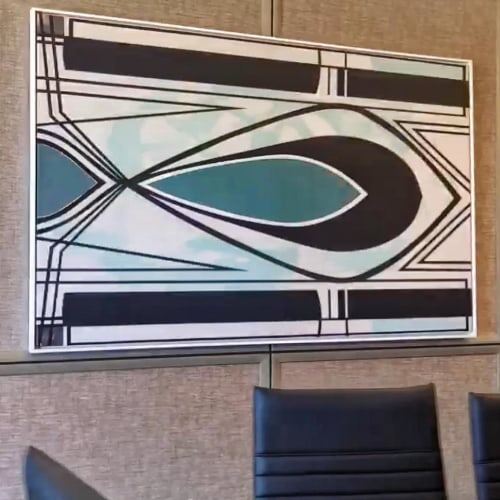 Paintings by Golie Art seen at The Dalmar, Fort Lauderdale, a Tribute Portfolio Hotel, Fort Lauderdale - Art Installation