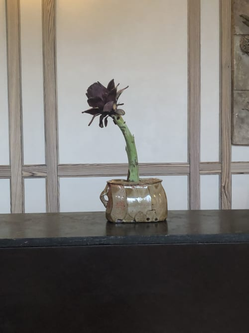 Floral Arrangements by Serracinna seen at Austin Proper Hotel, Austin - Artichoke arrangement