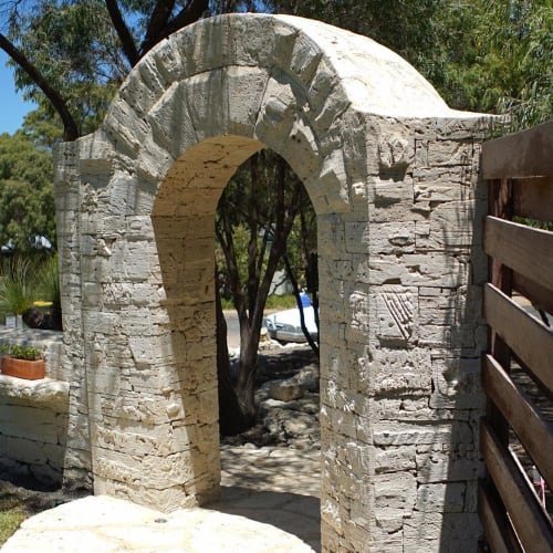 Sculptures by Kashmir Rouw seen at Private Residence, Margaret River - Archway
