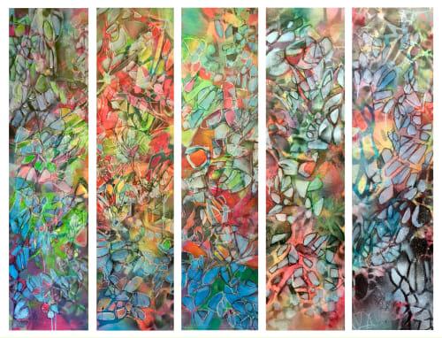 Paintings by Renee DeCarlo seen at Avenue, San Francisco - In between the narrows