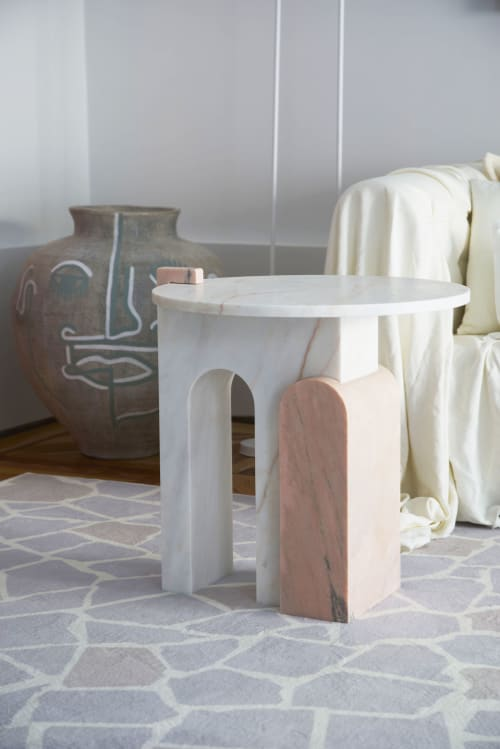 Tables by Dovain Studio seen at CASA DECOR, Madrid - Stone marble table