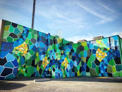Murals by Chor Boogie seen at Cutting Edge Solutions, Santa Rosa - Modern Hieroglyphics
