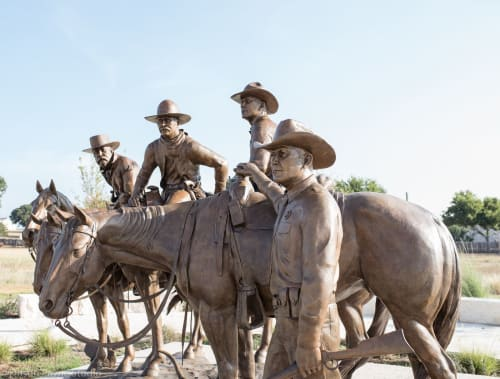 Public Sculptures by Dustin Payne Studio, Inc. seen at Fredericksburg, Fredericksburg - The Legend, The Lore, The Law