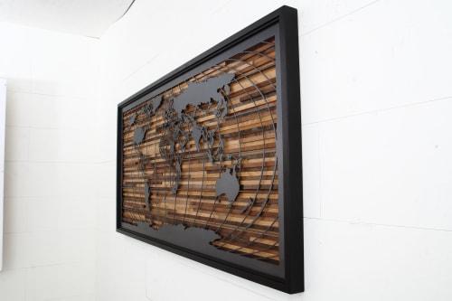 Art & Wall Decor by Craig Forget seen at Harvard University, Cambridge - World Map artwork