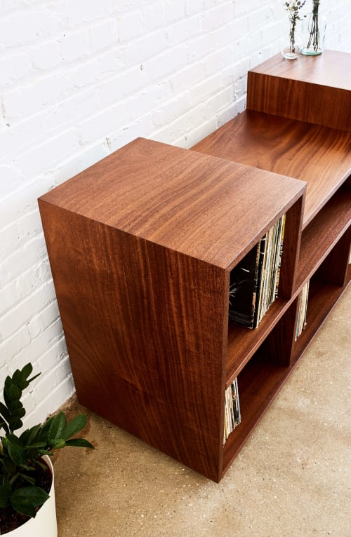 Furniture by Alicia Dietz Studios seen at Private Residence, Richmond - Apodaca Vinyl Record Console