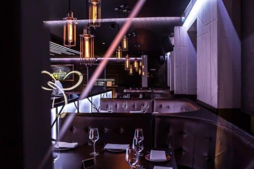 Lighting Design by Asco Lights seen at Namaste Lounge, Northwood Hills - Namaste Lounge