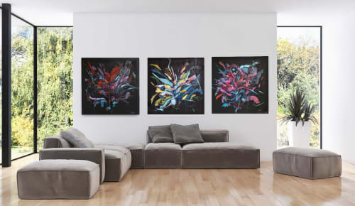 Paintings by Alena Reit seen at Private Residence, Hamburg - Thee combo