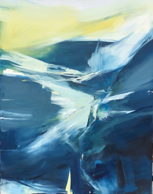 """Abstract painting """"Short Summer"""" 