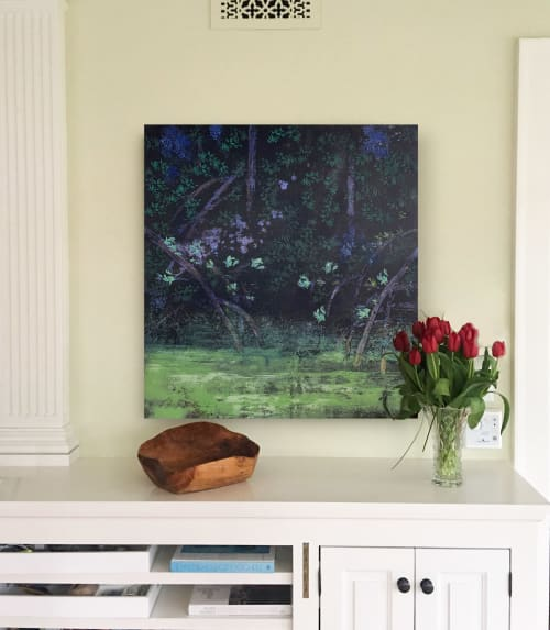 Paintings by Mike  Murray seen at Private Residence, Minneapolis - Mangroves