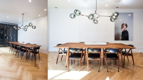 Tables by FineRoot seen at Private Residence, Noe Valley, San Francisco - Custom Dining Table