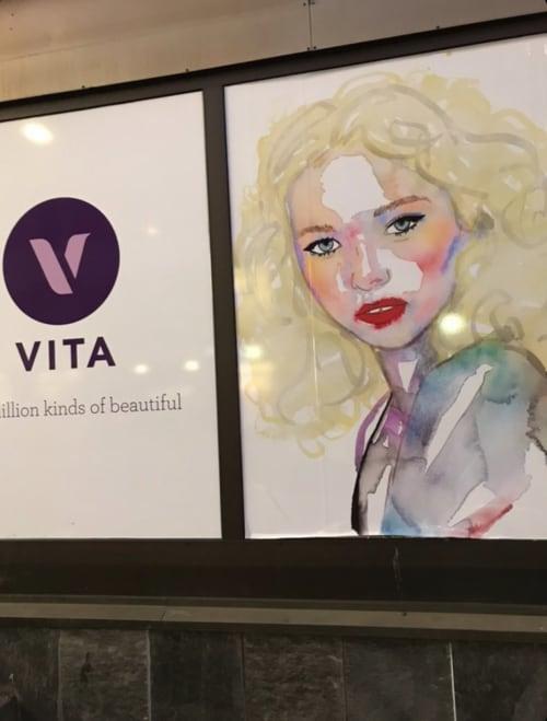 Murals by FAHREN seen at Vita Beauty Norway, Sogndal - Fahren