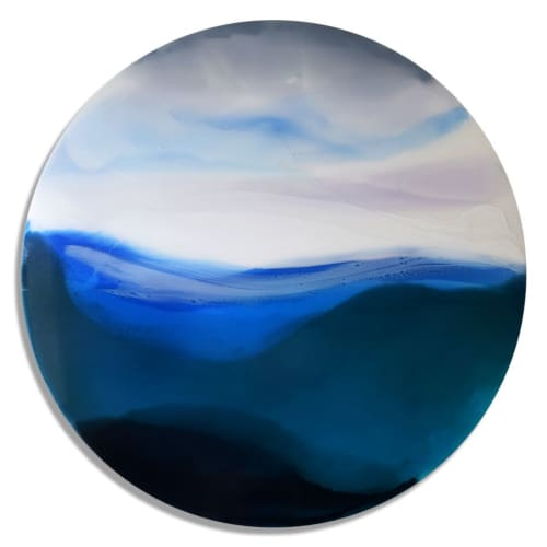 Paintings by Marina Dunbar seen at Private Residence, Sullivan's Island - Both Worlds