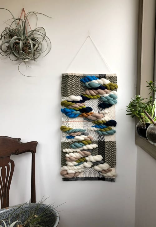 Wall Hangings by Little Black Sheep Studio seen at Private Residence, Varina - My Blue Heaven Wall Hanging