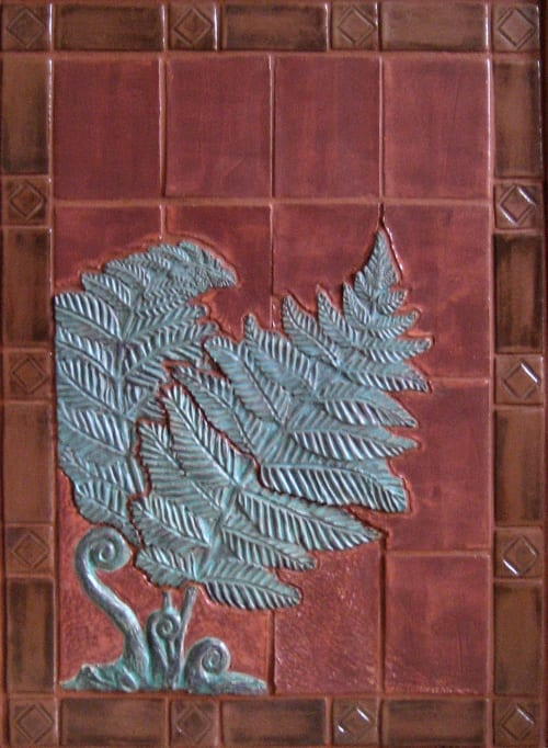 Tiles by Gregory Fields seen at Private Residence, San Francisco - Fireplace Fern